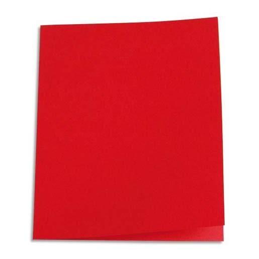 Chemises carte recyclée 180 grammes coloris rouge - Paquet de 100