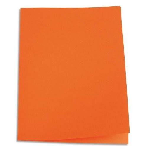 Chemises carte recyclée 180 grammes coloris orange - Paquet de 100