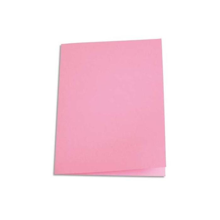 Chemises carte recyclée 180 grammes coloris rose - Paquet de 100