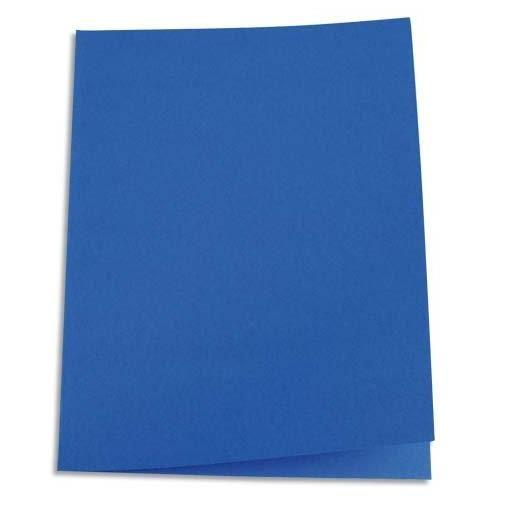Chemises carte recyclée 180 grammes coloris bleu foncé - Paquet de 100