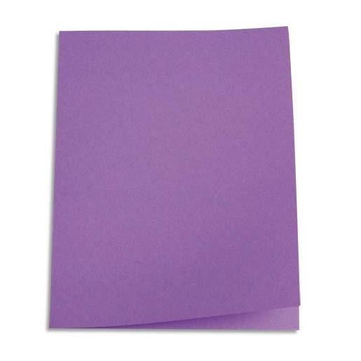 Chemises carte recyclée 180 grammes coloris lilas - Paquet de 100