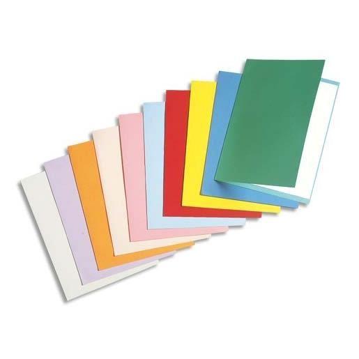 Chemises carte recyclée 180 grammes coloris assortis - Paquet de 100