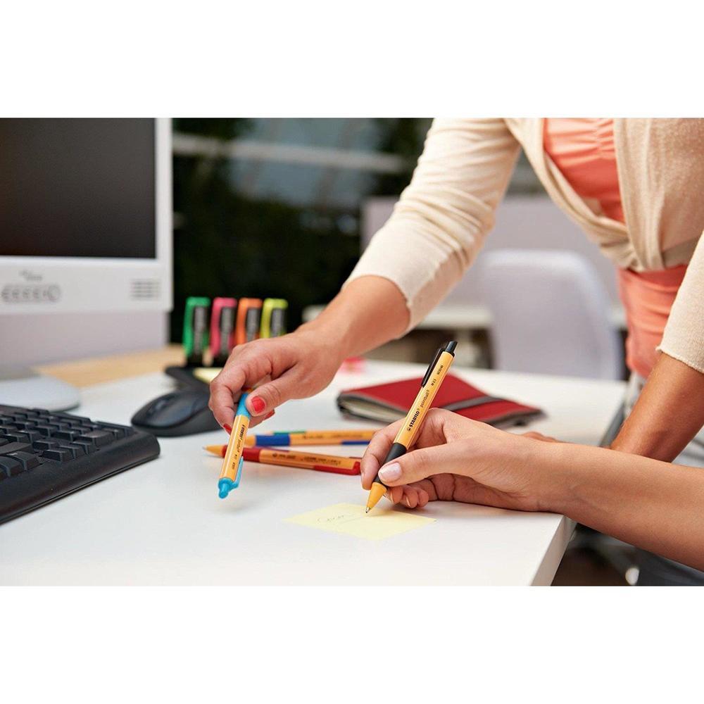 Blister x 3 stylos-bille STABILO pointball - noir + bleu + rouge