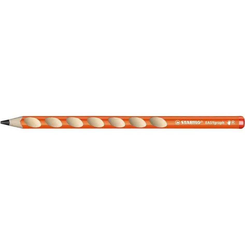 Crayon graphite STABILO EASYgraph HB droitier - orange