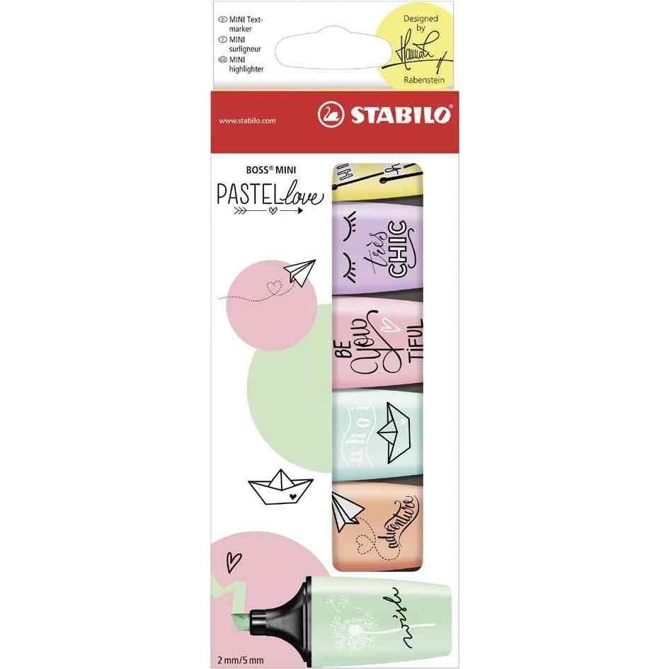 Surligneur pastel - Pastellove - Étui carton de 6 surligneurs - Coloris paste…