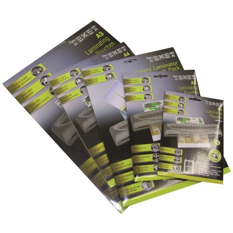 Feuilles de plastification A4 125 microns par face, 250µ total, boite de 100