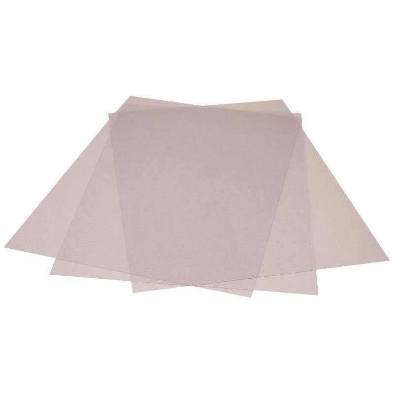 Plat pour couverture translucide PVC 200mic A4 216x303mm paquet de 100 incolore