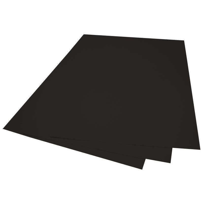 Plat couverture grain cuir noir 230gsm A4 216x303mm paquet de 100