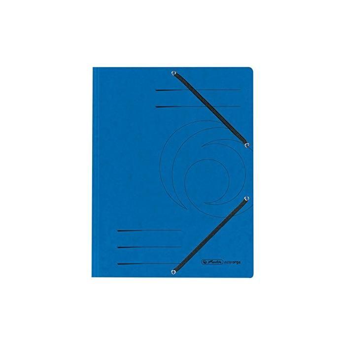 Chemise à élastiques, format A4, colorspan, Bleu