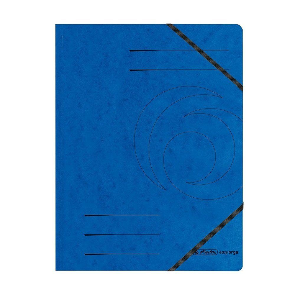 Chemise à élastique easyorga, A4, en carton lustré, couleurs assorties 5 pcs