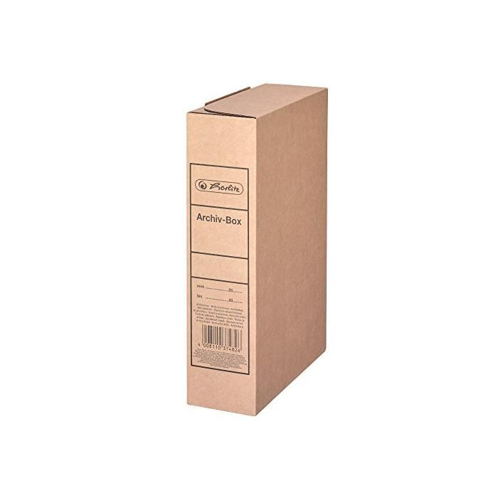Boite d'archivage A4 (L)80 mm x (P)230 x (H)320 mm Carton Brun