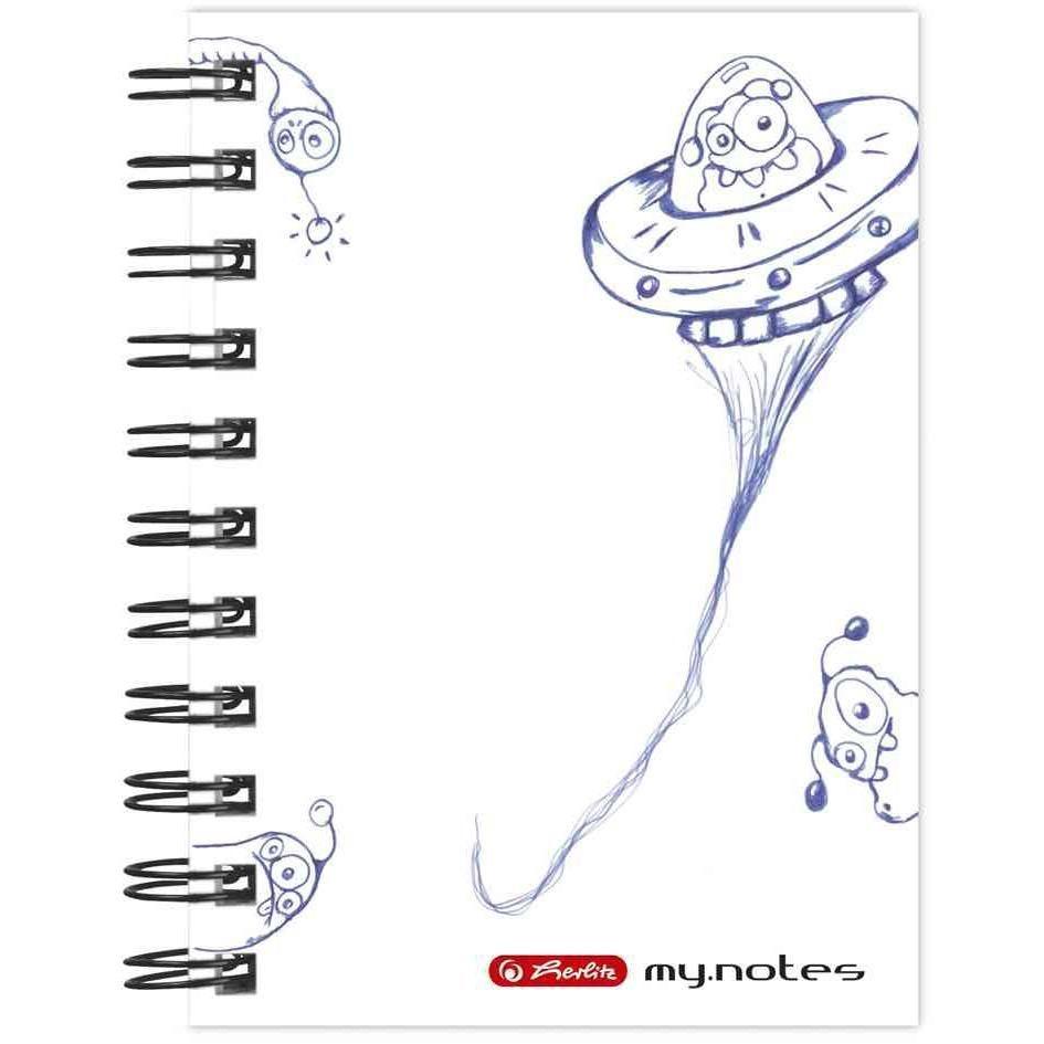 Carnet à spirale 'my.notes', format A6, 200 pages 70g quadrillé