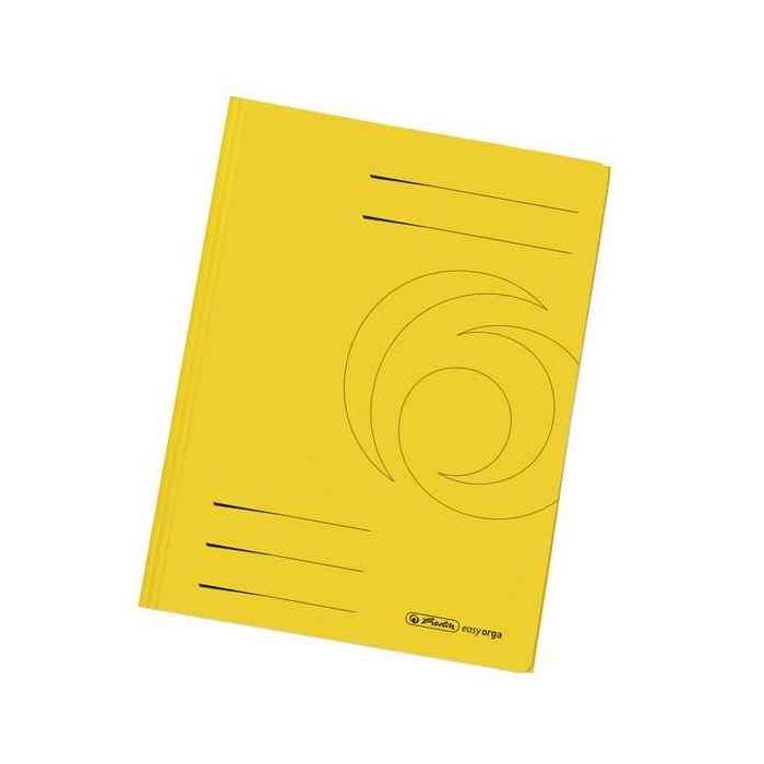 Chemises easyorga, A4, 3 rabats carton manille, jaune - Paquet de 10