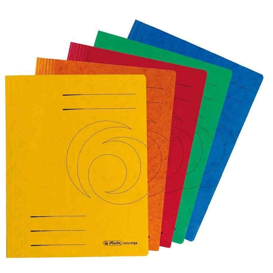 10x Chemise à lamelle easyorga, A4, carton rouge (photo)