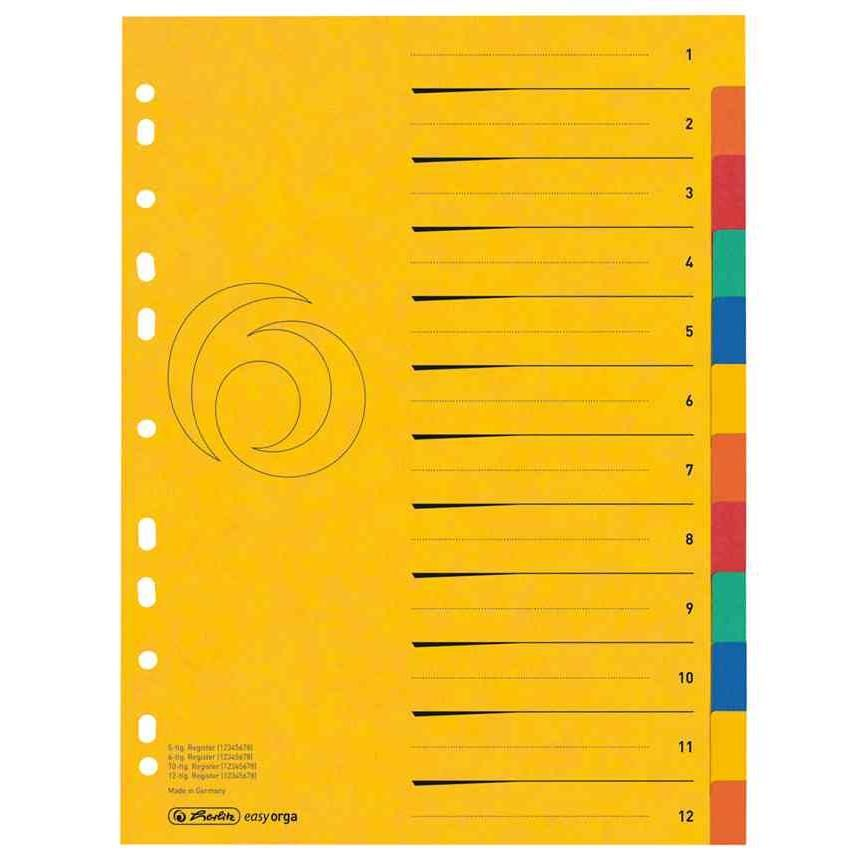 Registre en carton, blanko, A4, extra large, 12