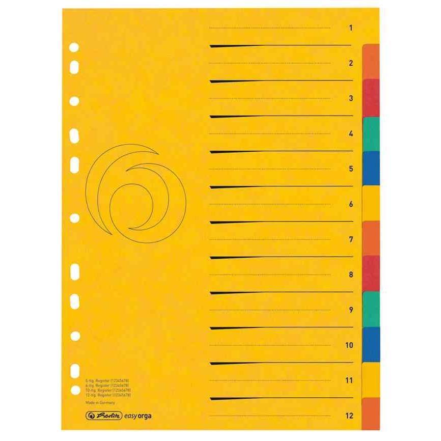 Registre en carton, blanko, A4, extralarge, 10 pièces