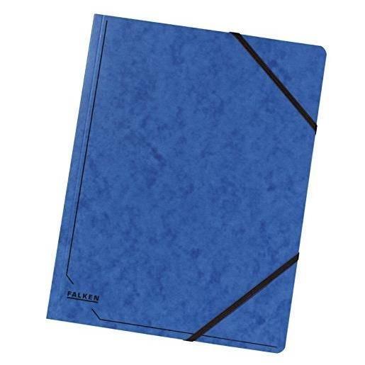 Chemise à élastique format A4 Carton 355g Colorspan Bleu