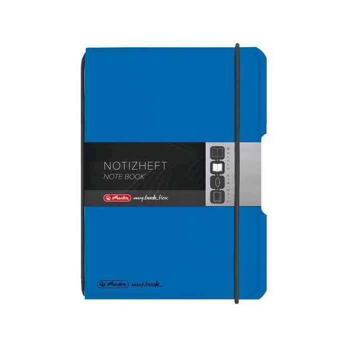 Carnet de note my.book flex A6 PP-Cover Quadrillé Bleu