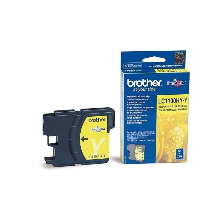 Encre originale pour brother MFC-6490CW, jaune