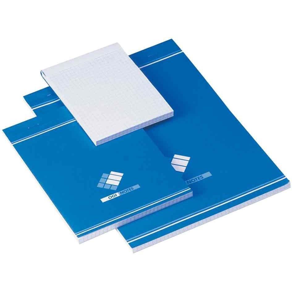 Bloc notes quadrillé 100 Feuilles 60g 74x105mm Blanc