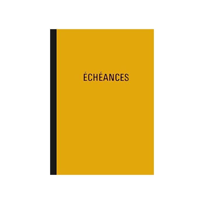 Cahier piqûre 'Echéances' 230 x 180 mm vertical 24 lignes 96 pages