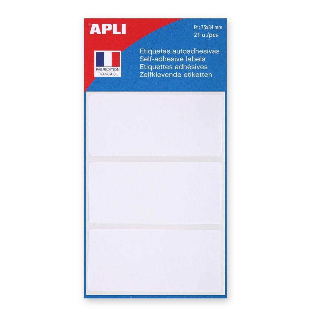 Étiquettes multifonctions, 34 x75 mm, blanches