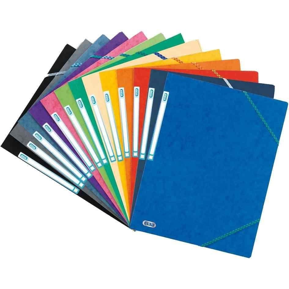 Chemise 3 Rabats et Elastique Top File A4 Carton Violet