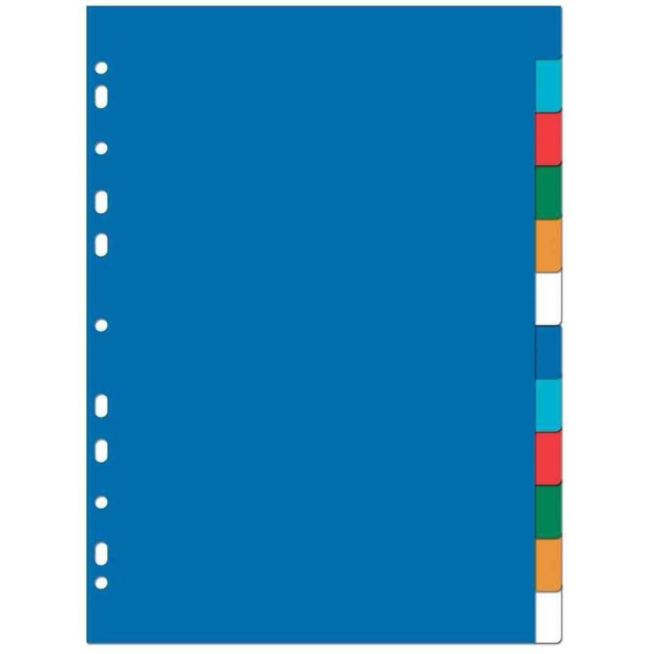 Jeu Intercalaires plastiques couleur A4 8 positions Neutres