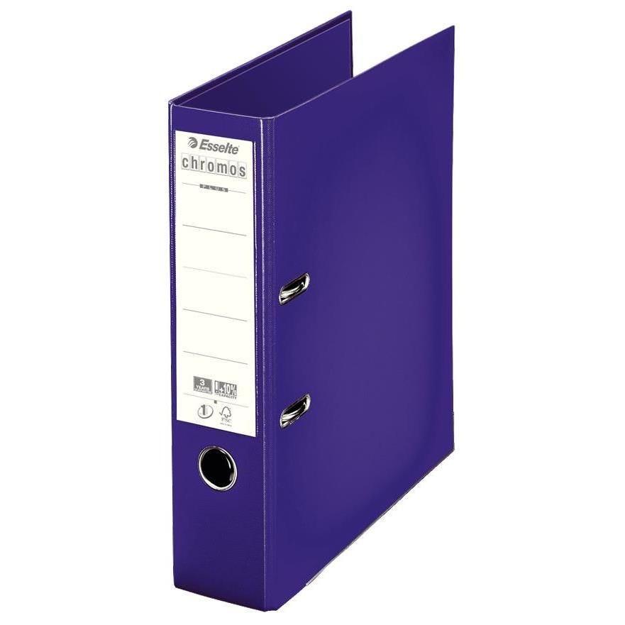 Classeur à levier Chromos A4 Dos de 80 mm Violet