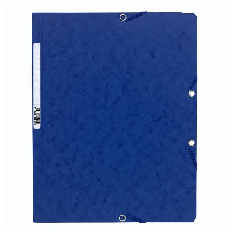 Chemise à élastiques sans Rabats carton 400g 24x32 cm Bleu