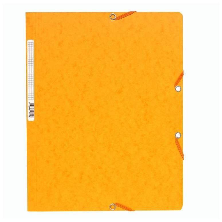Chemise à élastiques sans Rabats carton 400g 24x32 cm Jaune