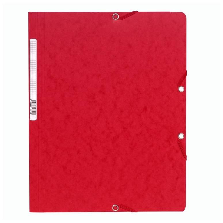 Chemise à élastiques sans Rabats carton 400g 24x32 cm Rouge