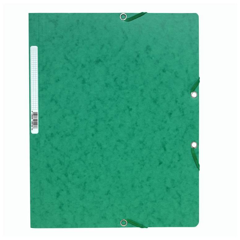 Chemise à élastiques sans Rabats carton 400g 24x32 cm Vert