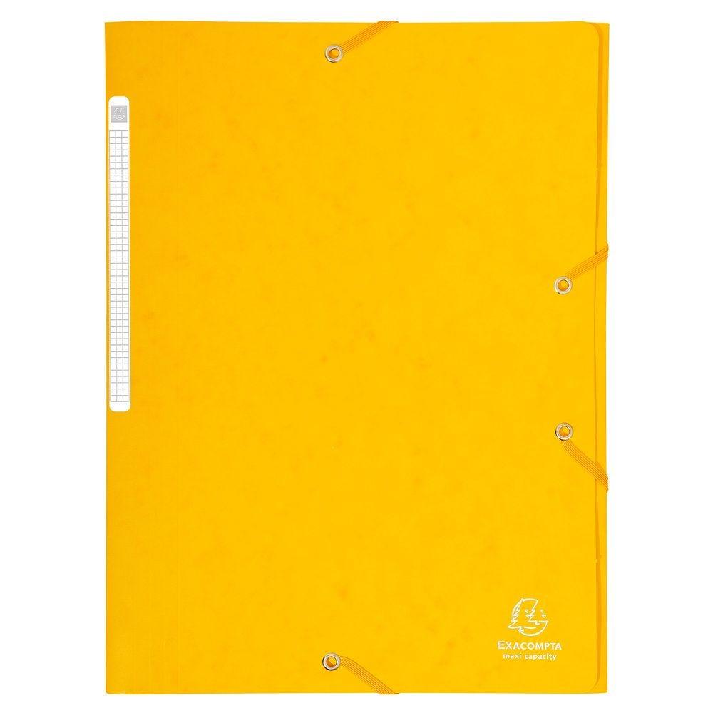 Chemise à élastiques Maxi capacity carte lustrée 425gm² Nature Future A4 Jaune