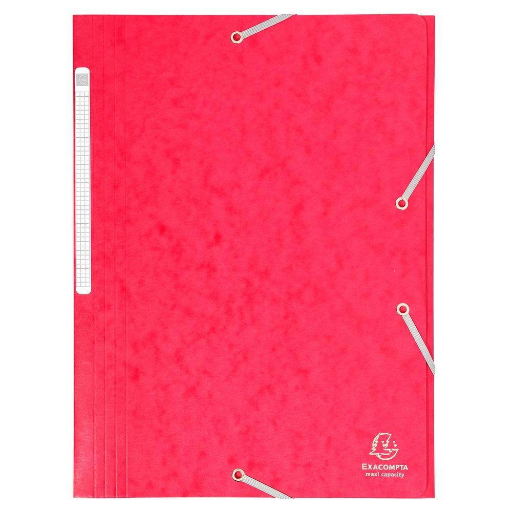 Chemise à élastiques Maxi capacity carte lustrée 425g Nature Future A4 Rouge