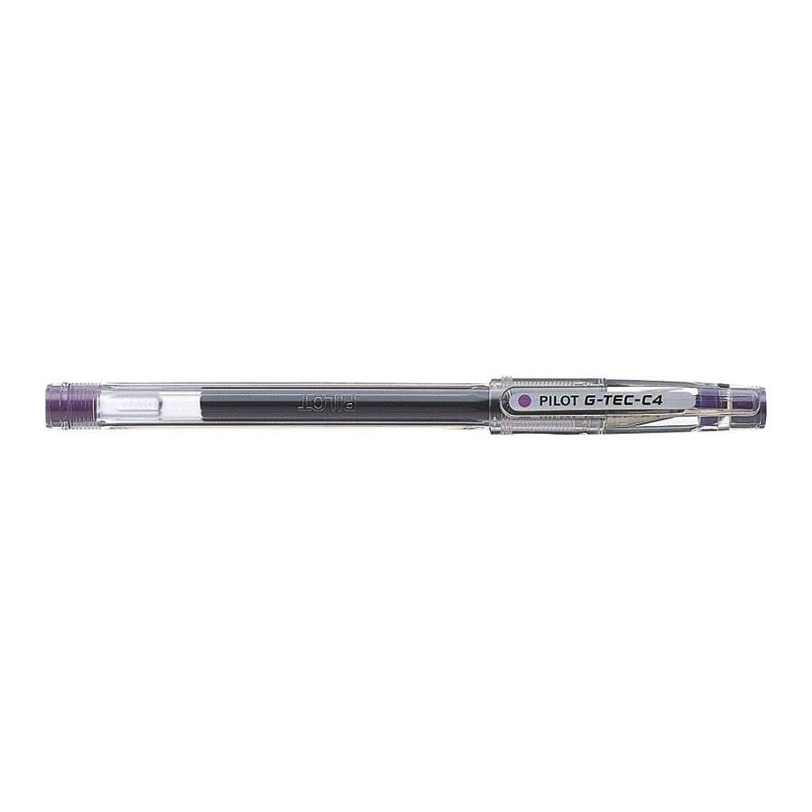 Stylo Roller Encre Gel G-TEC-C4 Pte Extra fine Violet