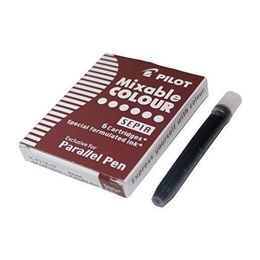 Boite de 6 Cartouches d'encre pour stylo Parallel Pen Sepia