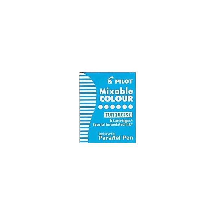 Boite de 6 Cartouches d'encre pour stylo Parallel Pen Turquoise