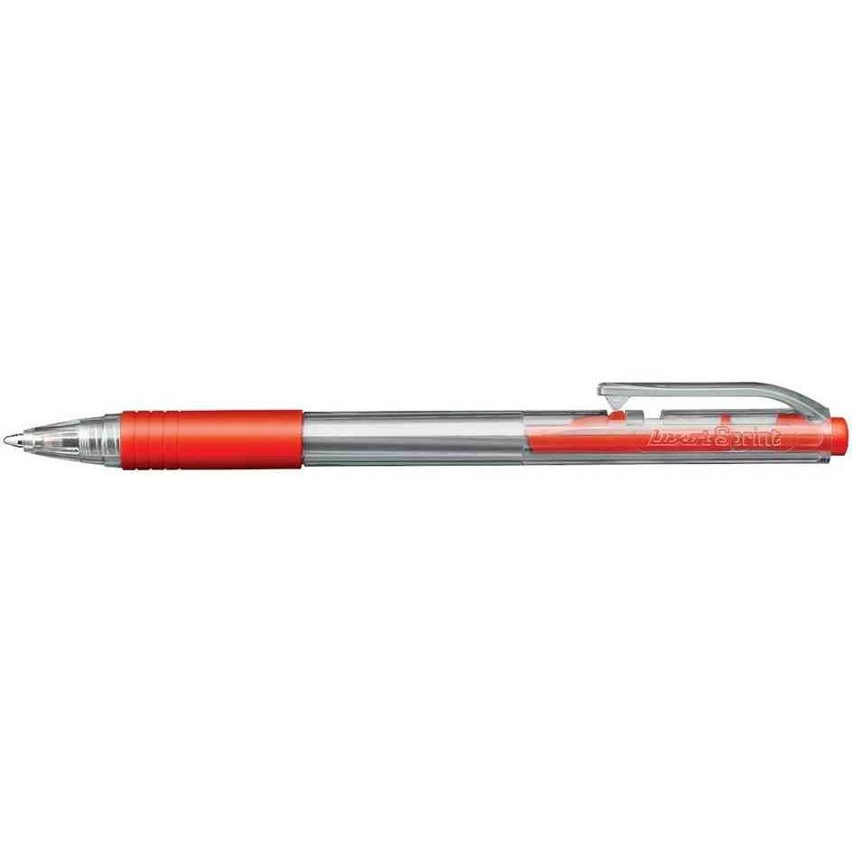 Stylo Bille Rétractable Spring Grip Pte Moyenne Rouge