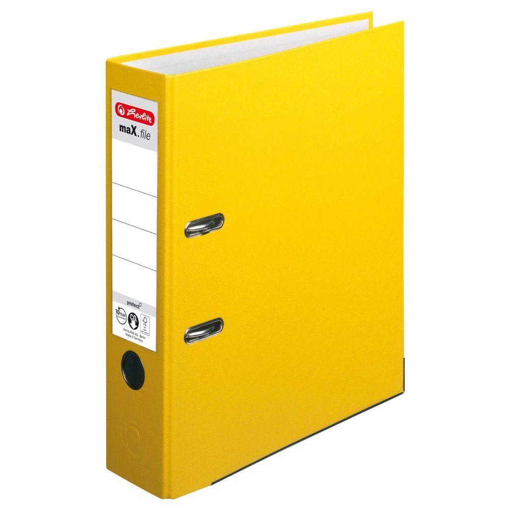 classeur maX.file protect, largeur de dos: 80 mm, Jaune