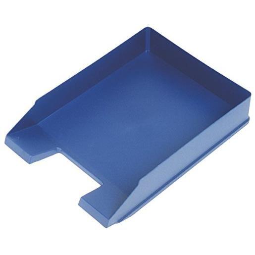 Corbeilles à courrier Economy A4 polystyrène Bleu - par lot de 5