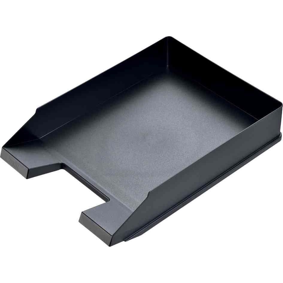 Corbeilles à courrier Economy A4 / C4 polystyrène Noir - par lot de 5