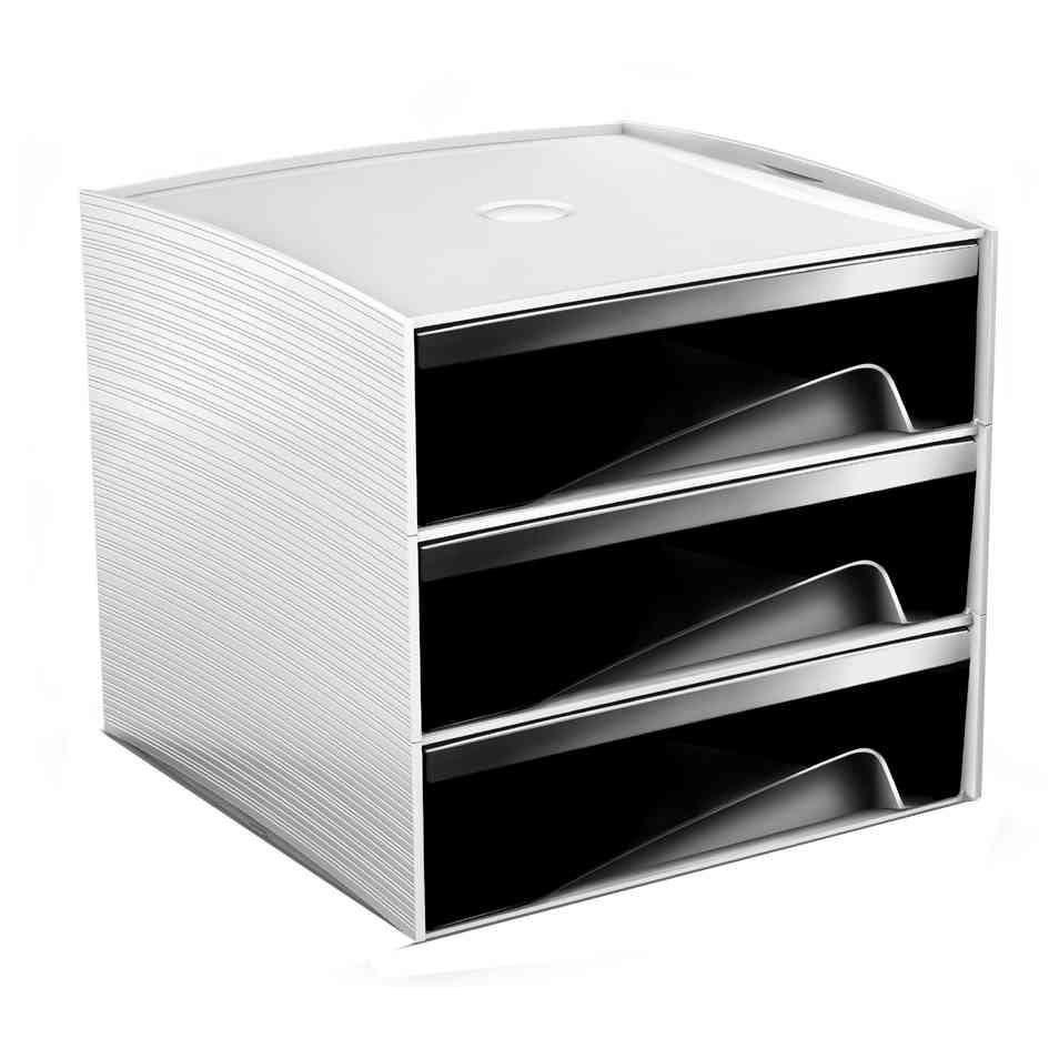 mini module de classement MyCube, 3 tiroirs, noir
