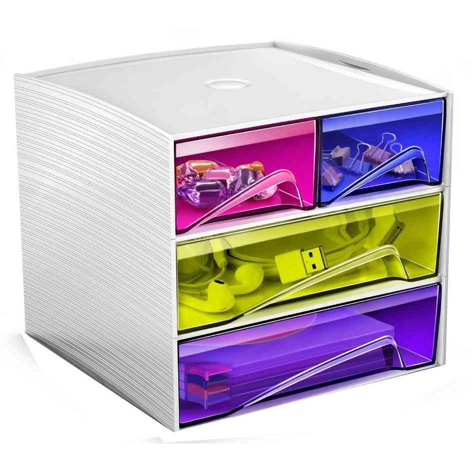 Mini module de Classement MyCube 4 Tiroirs Multicolores