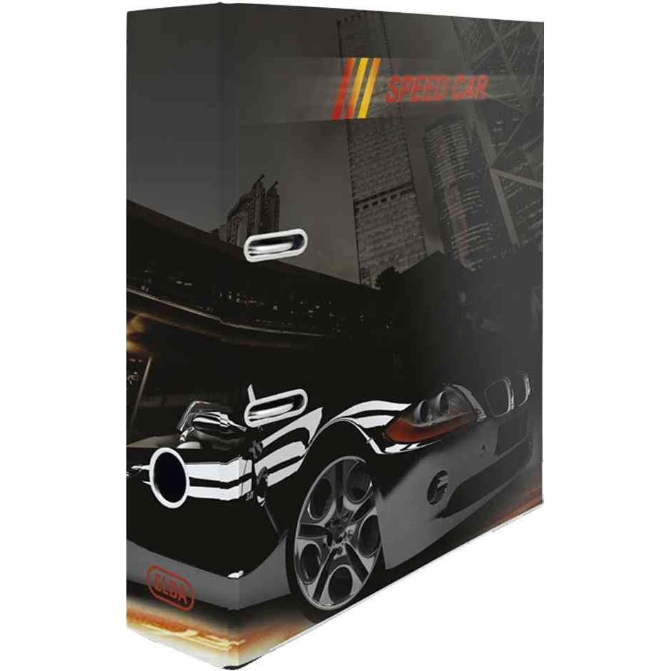 Classeur motif 'Speed Car' pour A4 Dos de 80mm