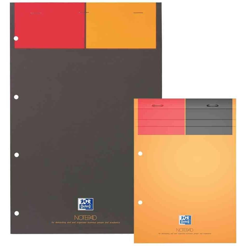 Bloc-notes International 'NOTEPAD' A4+ 160 pages 90g Ligné Perforé Jaune