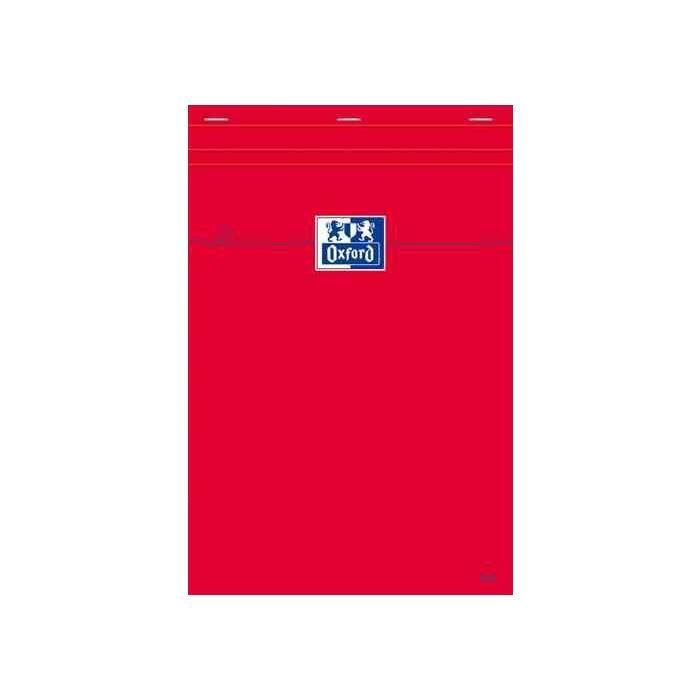 Bloc-notes 74 x 105 mm quadrillé 80 feuilles 80g Rouge