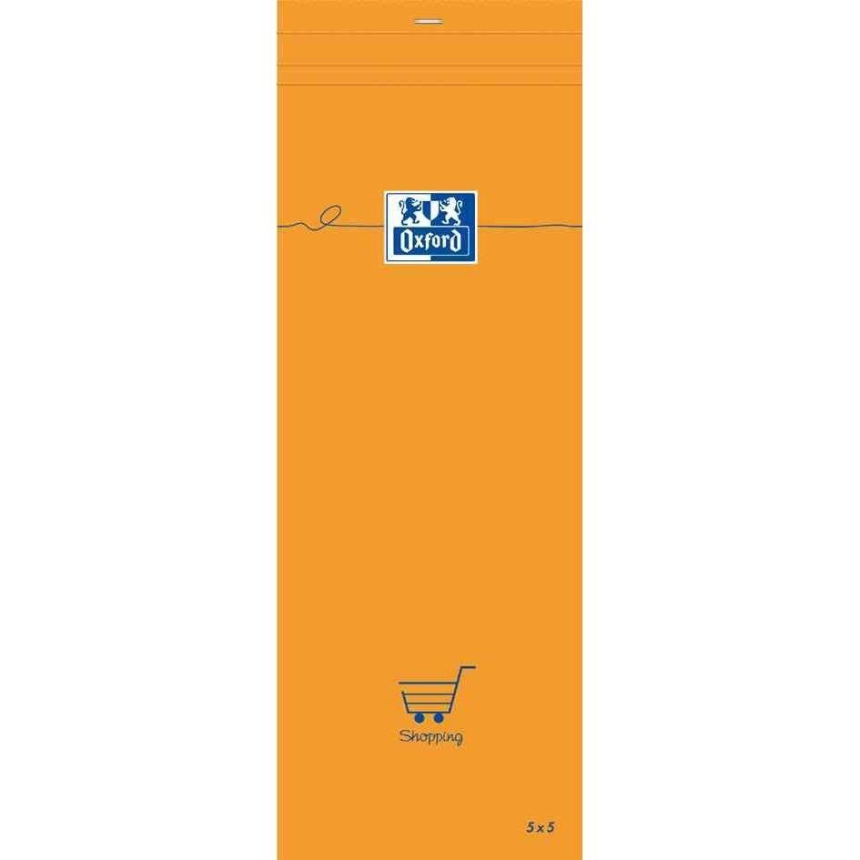 Bloc-notes shoping orange 74 x 210 mm quadrillé 80 f