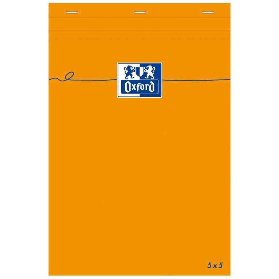 Bloc-notes ORANGE 85 x 120 mm Quadrillé 80 feuilles OPTIK Paper 80g