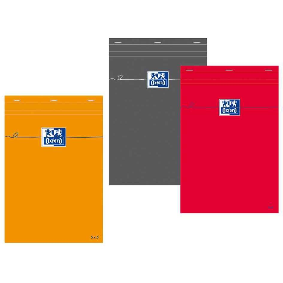 Bloc-notes, A6, quadrillé, 80 feuilles, orange